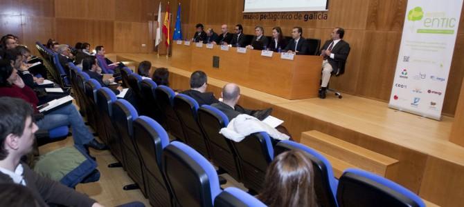 La CEO participa en Santiago en la presentación de ENTIC, proyecto que cuenta con el Igape y el Inega como socios de referencia