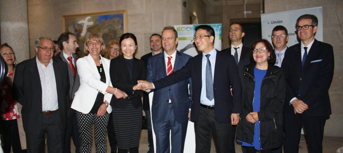 Empresarios chinos de alimentación buscan productos en Ourense para comercializarlos en su país