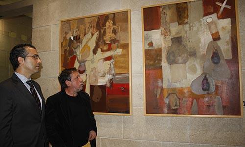 El pintor Juan Manuel Lazcano expone en la sede de la CEO