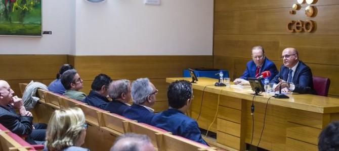 Manuel Baltar presentó a la CEO su programa de gobierno para la Diputación en los próximos cuatro años