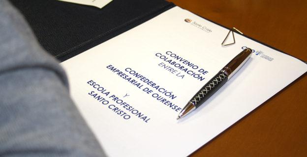 CEO y Escola Profesional Santo Cristo firman un convenio para compartir iniciativas
