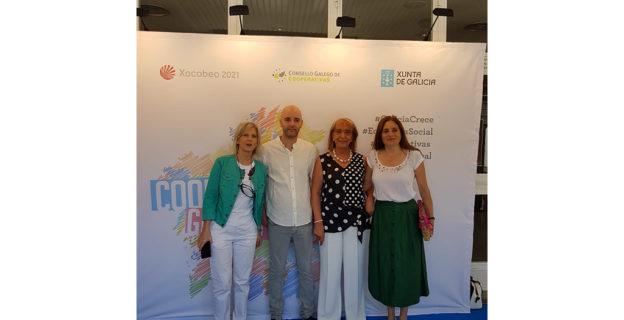 La presidenta de la CEO asistió a la jornada del Cooperativismo autonómico en A Limia