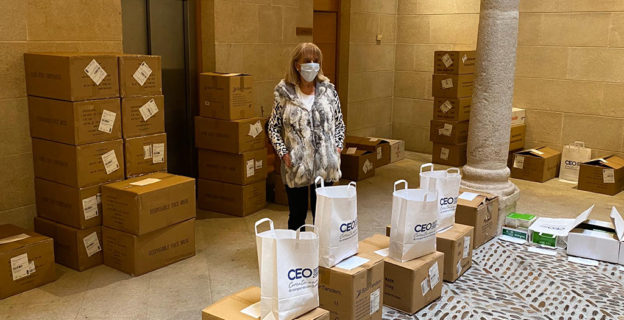 La CEO canaliza la entrega de mascarillas a las empresas de la provincia
