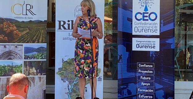 La CEO acude a Castrelo de Miño para apoyar la iniciativa Xuntas e Xuntos de los Colleiteiros do Ribeiro