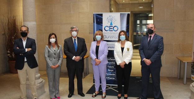 La CEO recibe al presidente de la CEG en su primera visita a Ourense