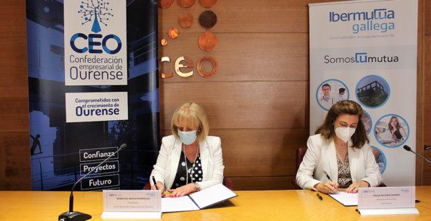 Ibermutua y la Confederación Empresarial de Ourense firman un convenio de colaboración